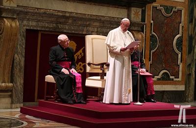 Udienza con il Papa Francesco, Vaticano, Sala Clementina, 2017.11.23.